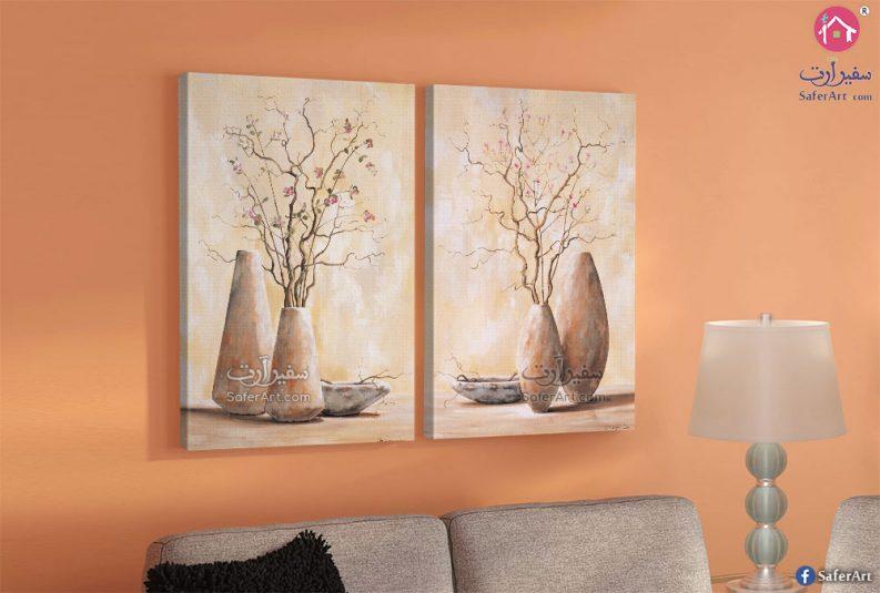 لوحات فازات وورود
