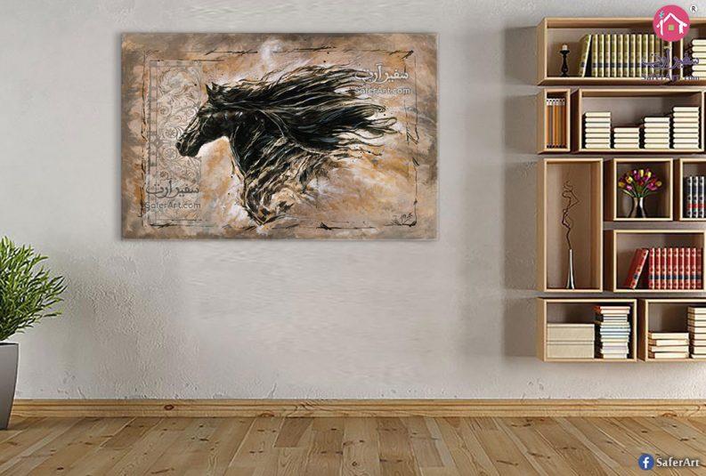 لوحة فنية حصان