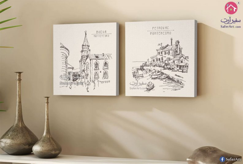 لوحات مدن ومباني