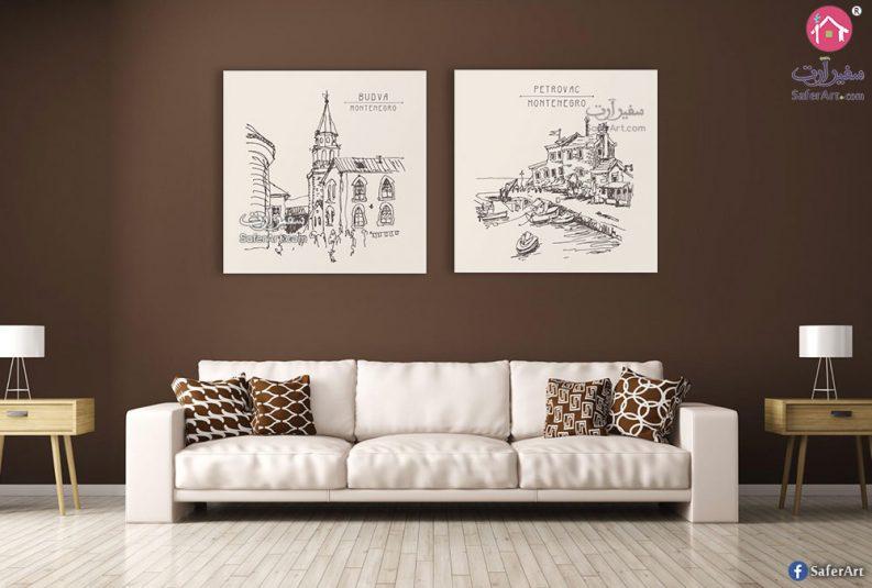 لوحة فنية مدن ومباني