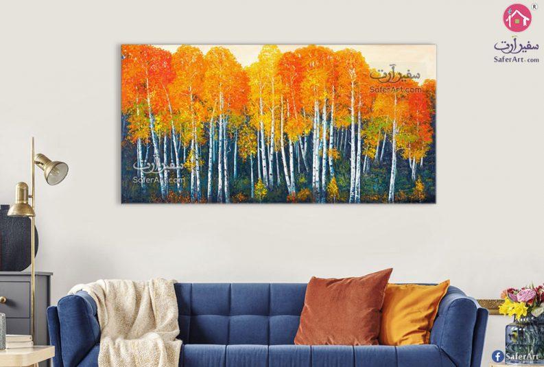 لوحة فنية غابات