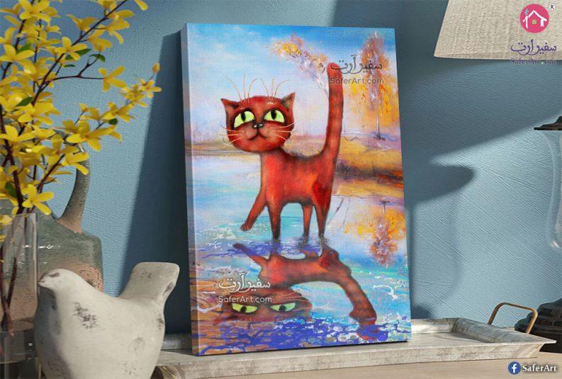 لوحات مودرن قطة