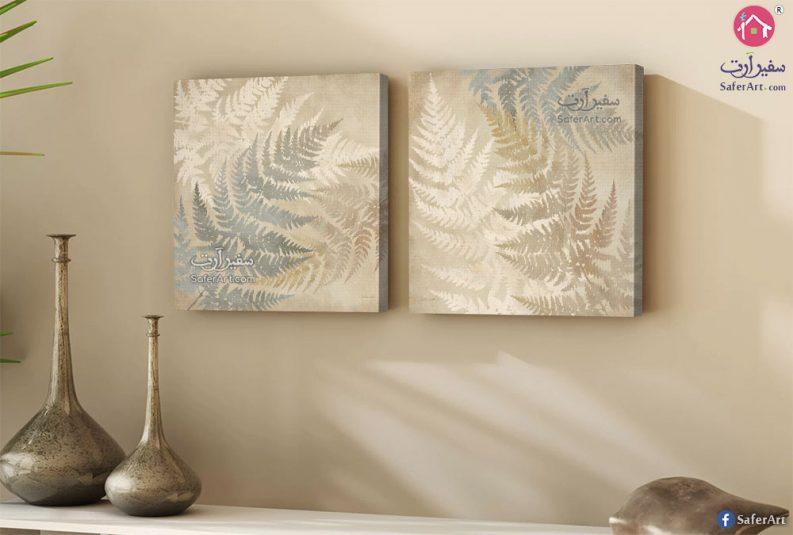 لوحات مودرن ذهبي وفضي