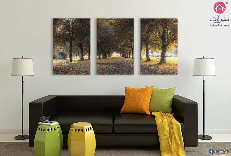 لوحة مودرن غابات وأشجار