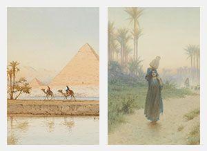 تابلوهات مودرن مناظر مصرية